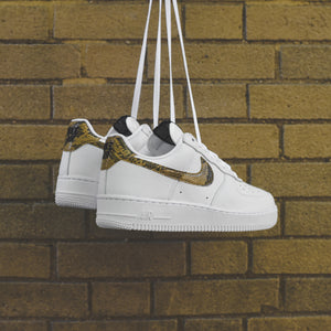detailed look 424f1 b871b Nike Air Force 1 Low Retro PRM - White   Elemental Gold   Dark Haze