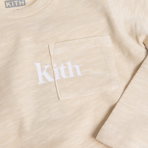 Kith Kids Quinn L/S Pocket Tee - Turtle Dove