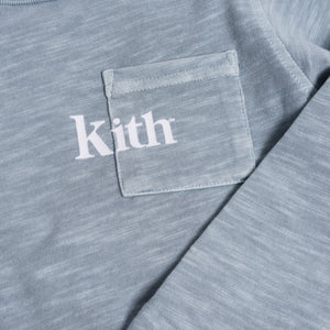 Kith Kids Quinn L/S Pocket Tee - Light Indigo