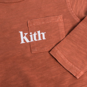 Kith Kids Quinn L/S Pocket Tee - Clay