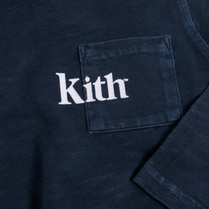 Kith Kids Quinn L/S Pocket Tee - Dark Indigo