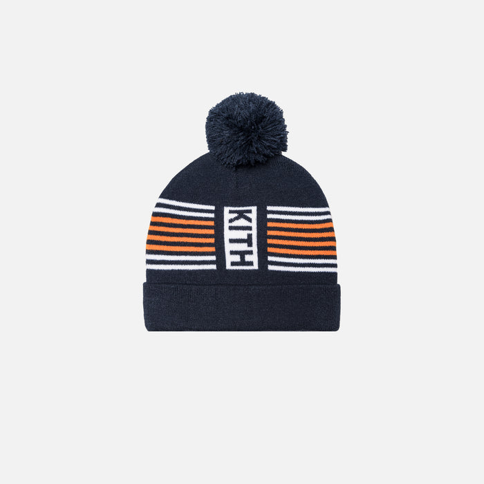 Kith Kids Striped Beanie - Navy