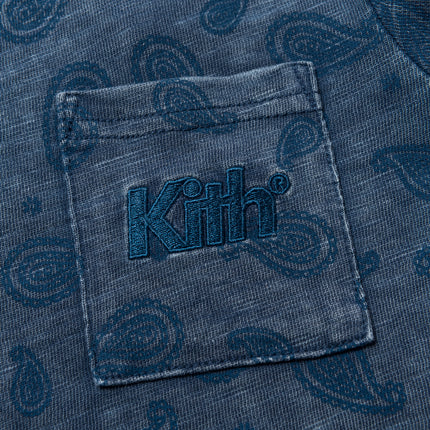 Kith Kids Paisley Quinn Pocket Tee - Medium Indigo