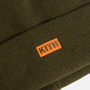 Kith Kids Spring Beanie - Olive Night