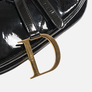 Dior Oblique Saddle Bag -  Black Patent