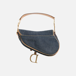 Dior Oblique Saddle Bag - Denim