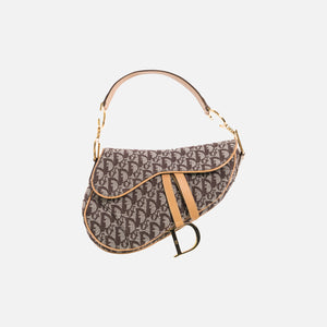 Dior Oblique Saddle Bag - Beige