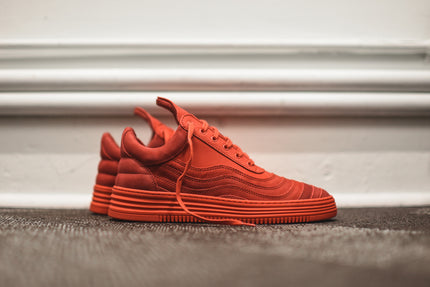Filling Pieces Low Top Wavy - Red