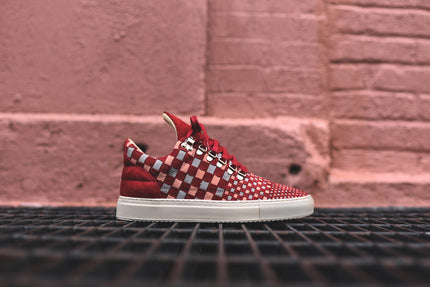 Filling Pieces x La Ferramenta Low Top - Tricolore Burgundy