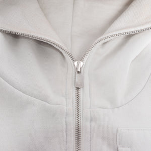 Kith Full-Zip Cargo Hoodie - Light Grey
