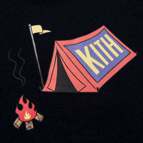 Kids Camp Out Tee - Black