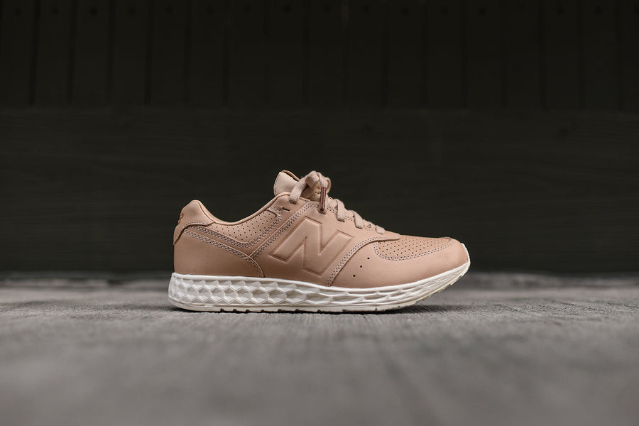 New Balance 574 Fresh Foam - Tan / White