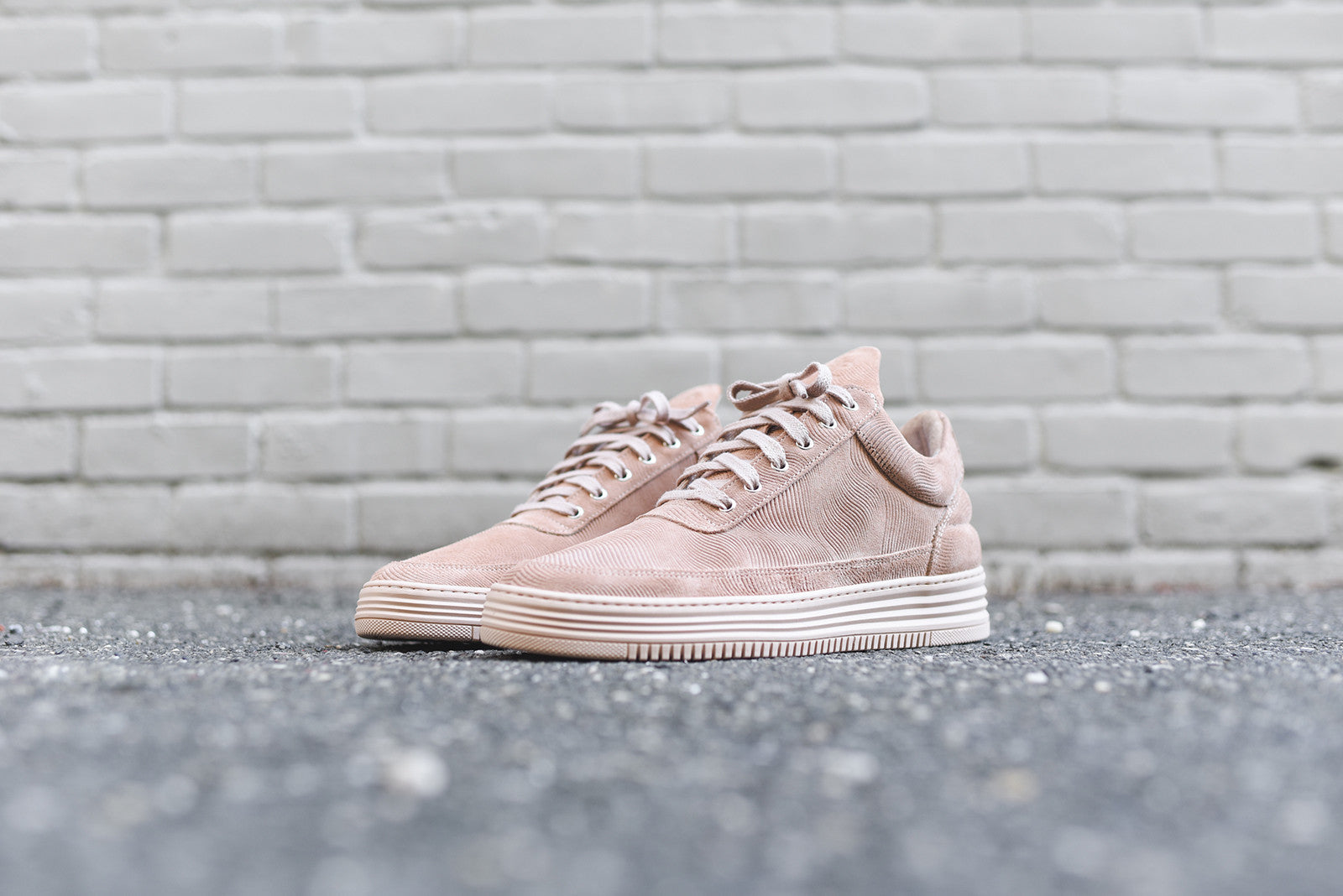 Filling Pieces Low Top Monotone - Stripe Nude