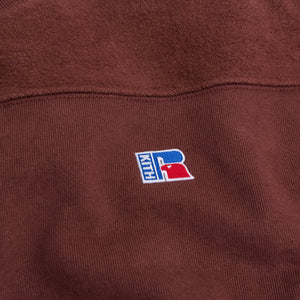 Kith x Russell Athletic Reverse Crewneck - Decadent Chocolate