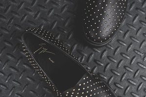 Giuseppe Zanotti London Low Slip-On - Studded Black
