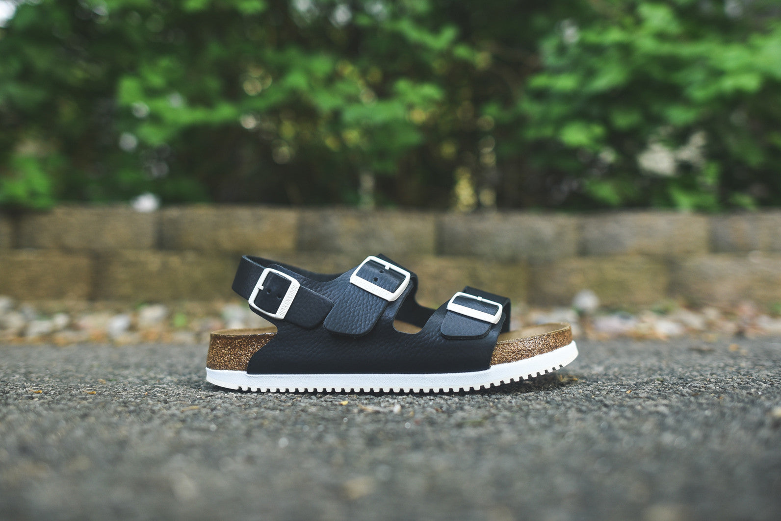 9144ad21a7fe Birkenstock Milano Professional Soft Footbed - Black Leather – Kith