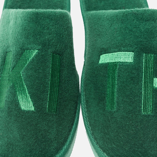 Kith Regal Stripe Spa Slides - Green