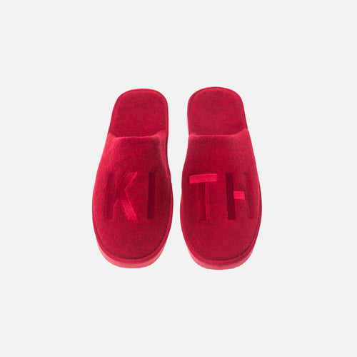 Kith Regal Stripe Spa Slides - Red