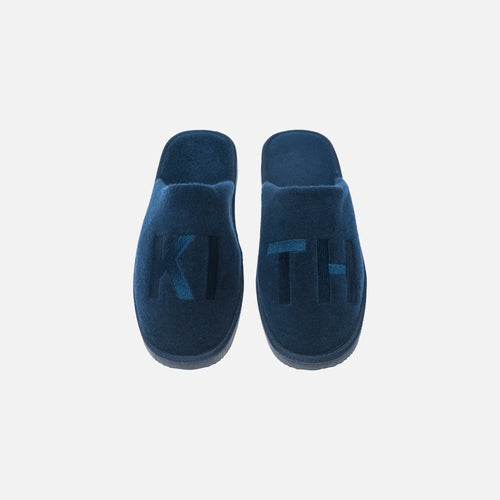 Kith Regal Stripe Spa Slides - Navy