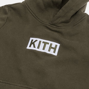 Kith Kids Classic Logo Williams Hoodie - Olive Night Image 3
