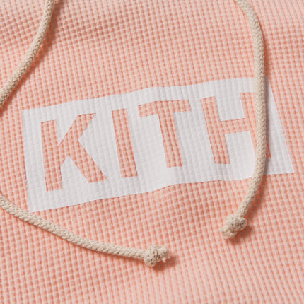 Kith x Calux Waffle Hoodie - Pink