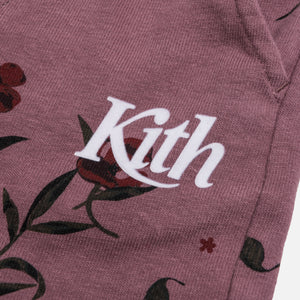 Kith Kids Toddlers Floral Short - Grape Snake