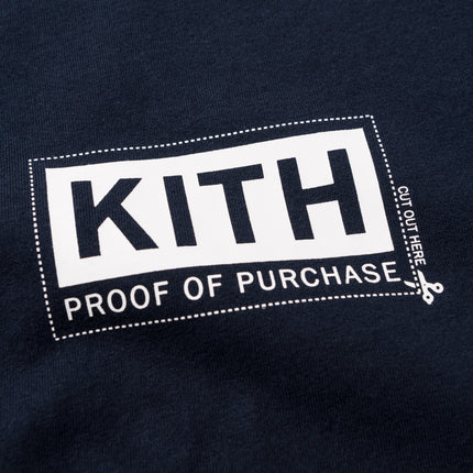 Kith Treats Proof Of Purchase Tee - Navy