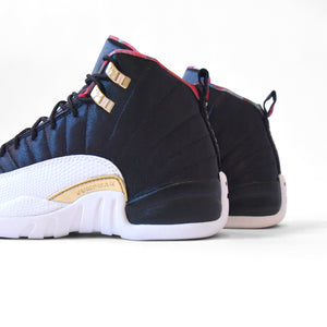 Nike GS Air Jordan 12 Retro CNY - Black / True Red / Sail