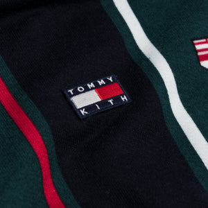 Kith x Tommy Hilfiger Stripe Hoodie - Forest / Navy