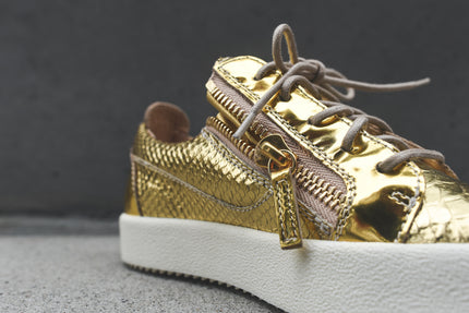 Giuseppe Zanotti WMNS London Low - Gold Snake