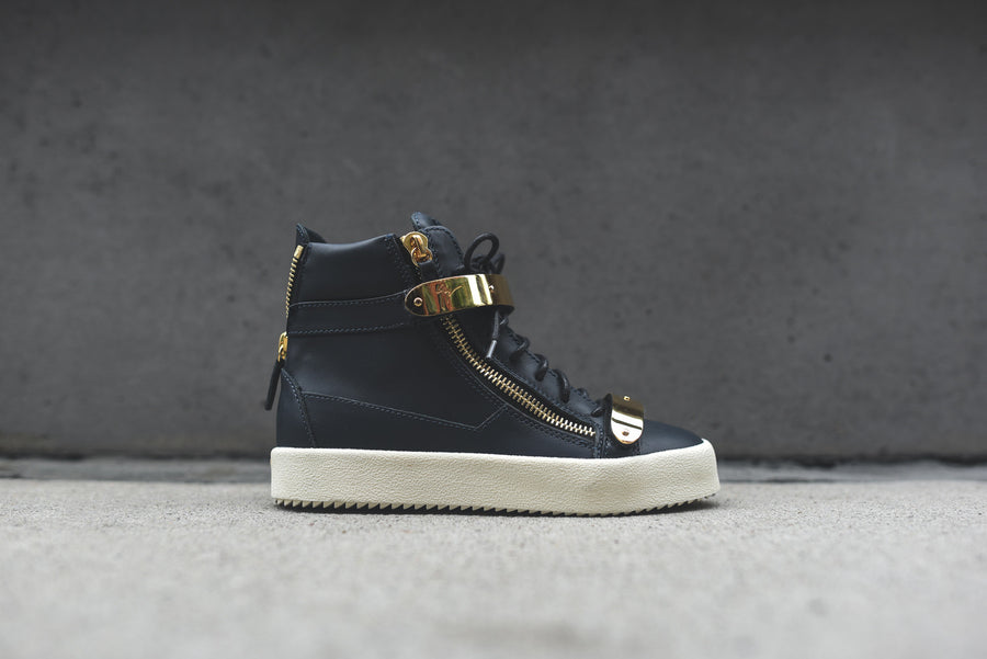 Giuseppe Zanotti WMNS Hi Top Double Hardware - Navy / Gold