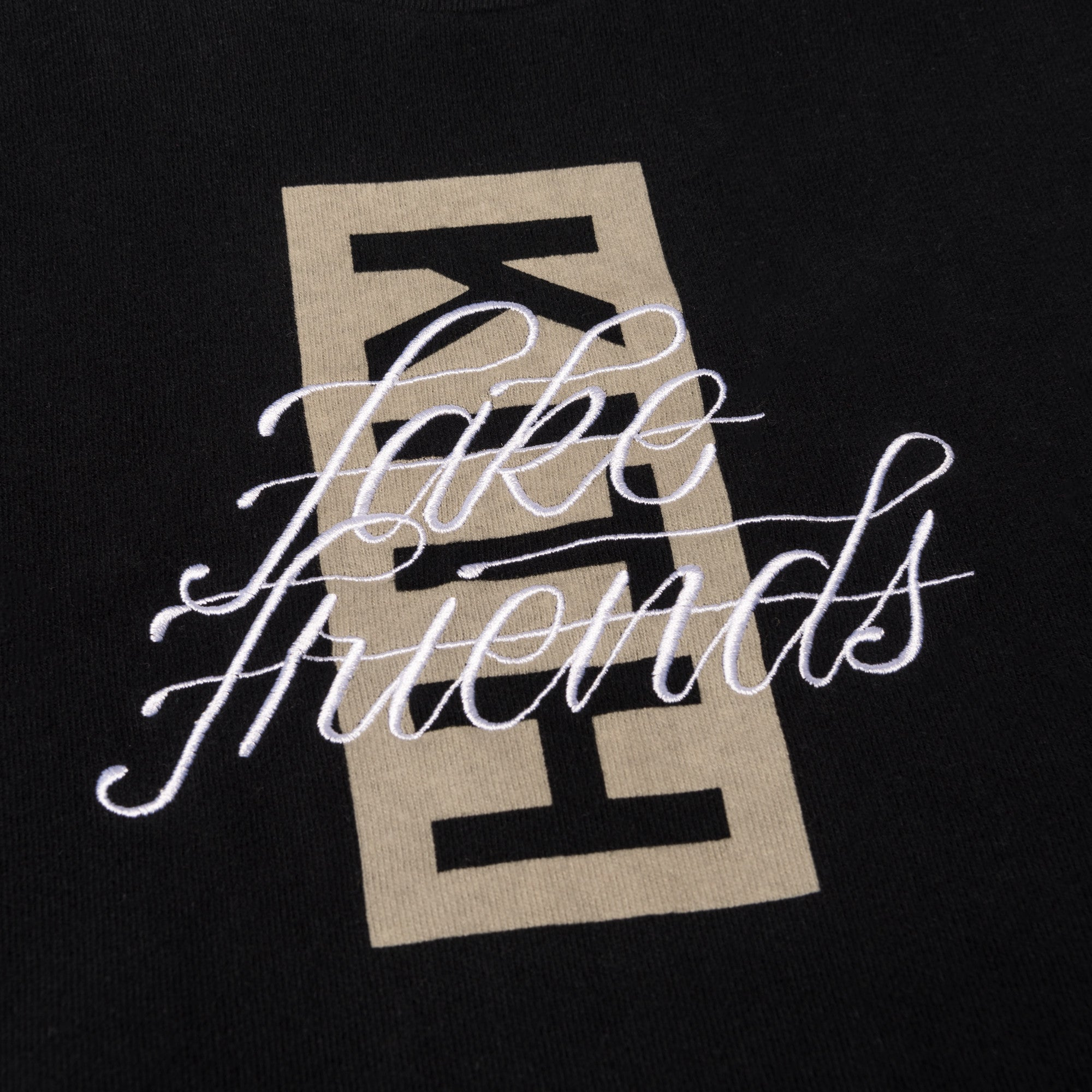 Kith Fake Friends Script Tee - Black
