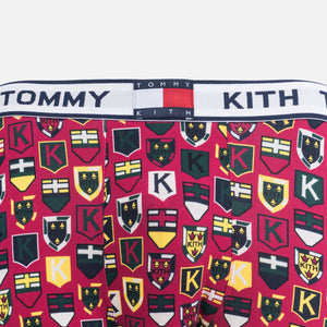 Kith x Tommy Hilfiger Crest Pattern Boxer - Red