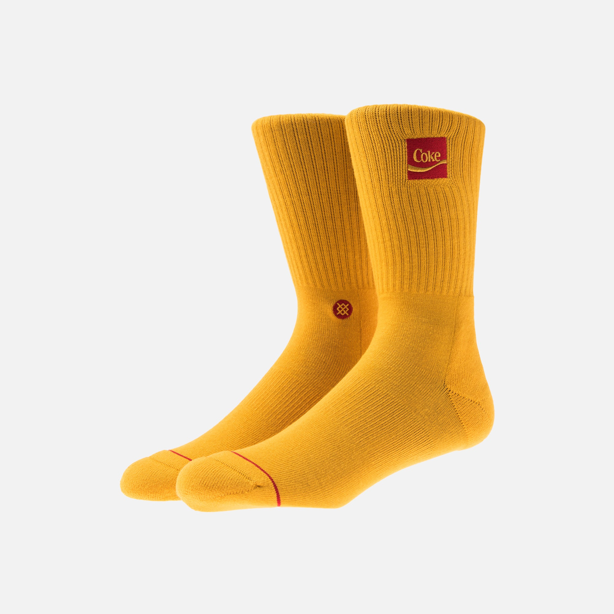 Kith x Coca-Cola x Stance Crew Sock - Yellow / Red
