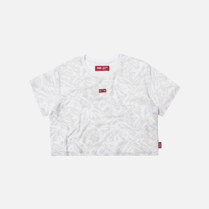 Kith Women x Coca-Cola Checkered Cropped Tee - White