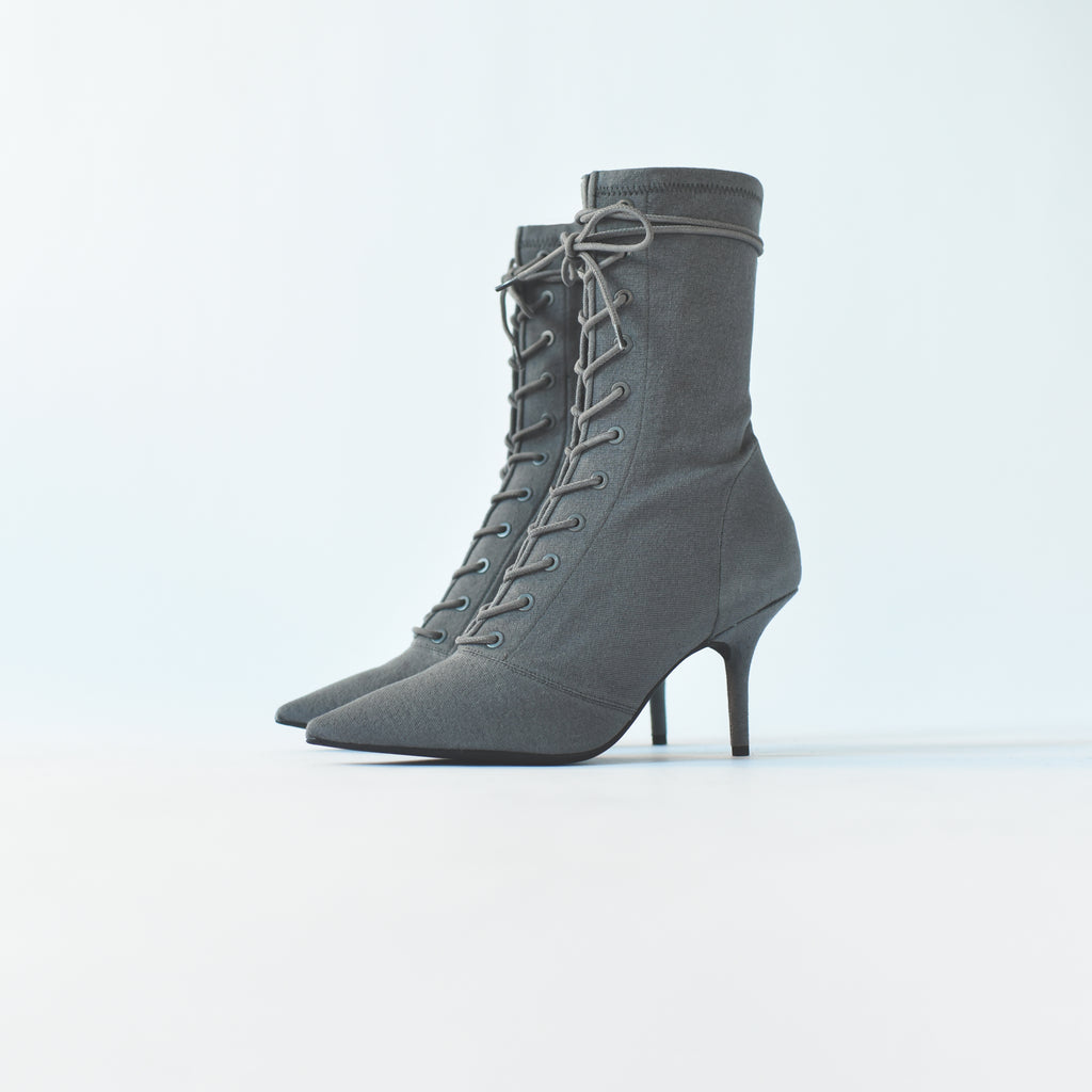 95a2d19722b Yeezy WMNS Stretch Lace-Up Ankle Boot 90MM Heel - Debris – Kith