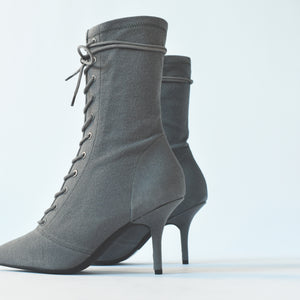 Yeezy WMNS Stretch Lace-Up Ankle Boot 90MM Heel - Debris