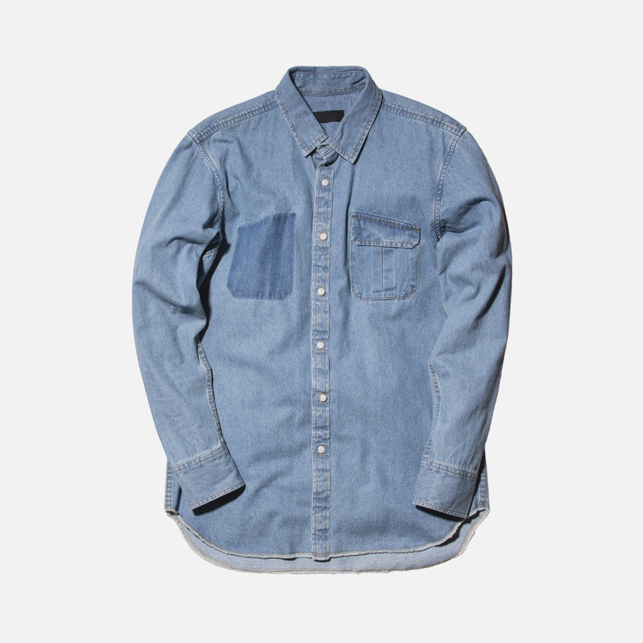 Kith Hollis Denim Button-Up Shirt - Washed Indigo