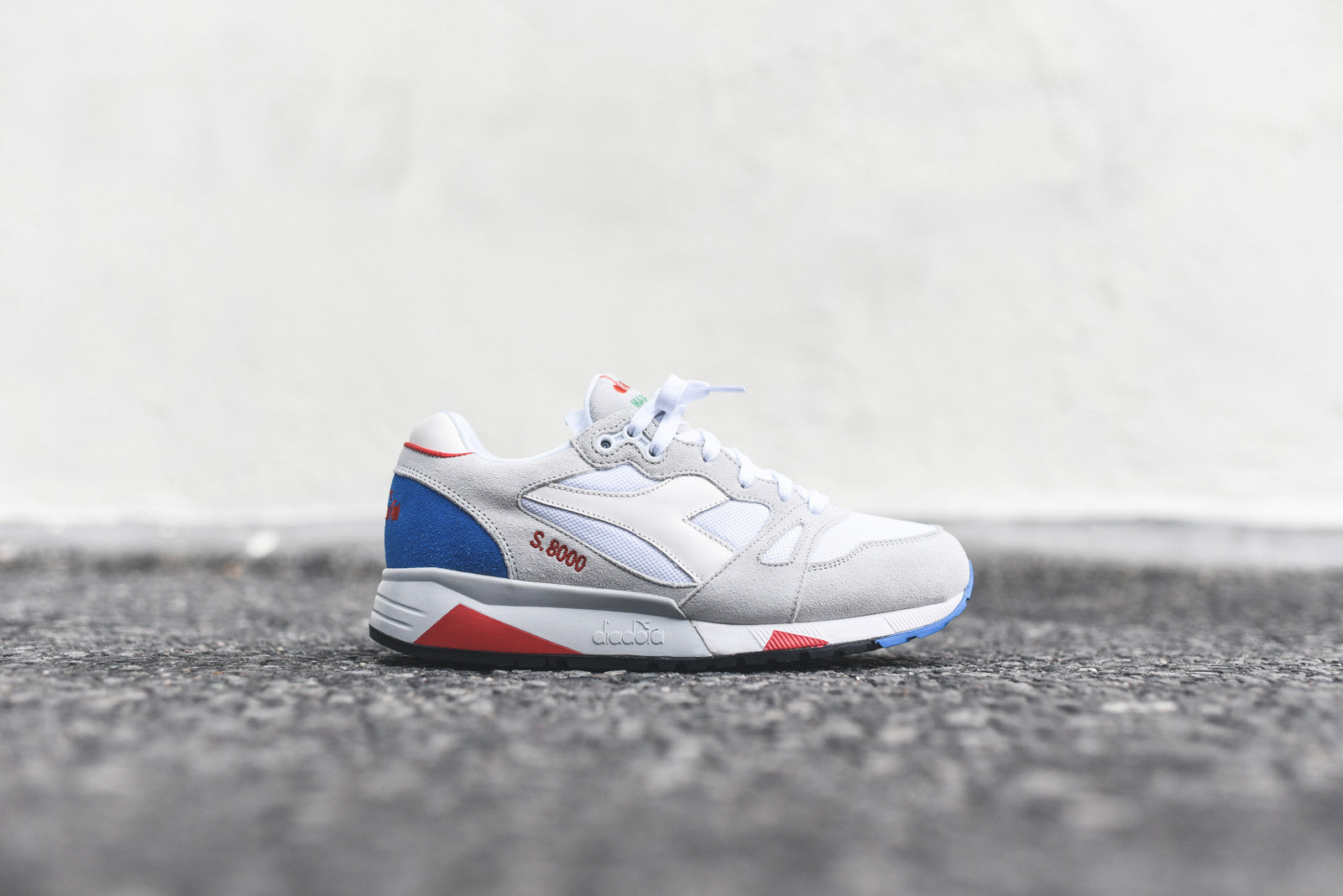 Diadora S8000 Italia - Light Grey / Micro Blue