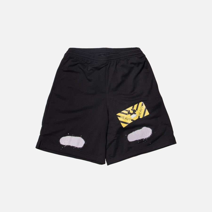 Off-White Diagonal Spray Mesh Shorts - Black