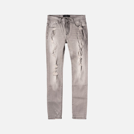 Stampd Distressed Skinny Fit Denim - Grey