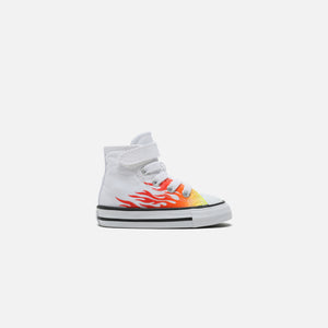 Converse Pre-School Chuck Taylor All Star Archive Flame Hi - White / Enamel Red / Fresh Yellow
