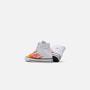 Converse Chuck Taylor All Star 1V Hi - White / Enamel Red / Fresh Yellow