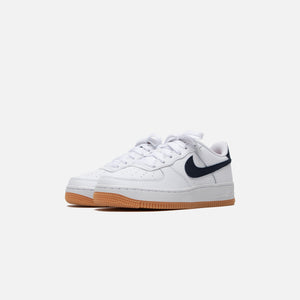 Nike Grade School Air Force 1 - White / Obsidian / University Red / Gum