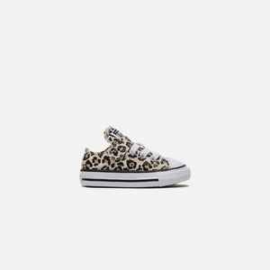Converse Toddler Chuck Taylor All Star 1V Leopard Print Ox - Black / Driftwood / Light Fawn Image 1