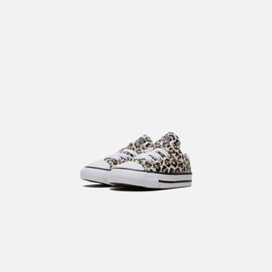 Converse Toddler Chuck Taylor All Star 1V Leopard Print Ox - Black / Driftwood / Light Fawn Image 2