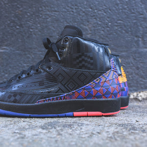 Nike Air Jordan 2 Retro BHM - Black / Metallic Gold