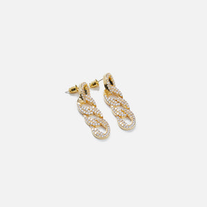 Fallon Pave Curb Chain Earrings - Gold