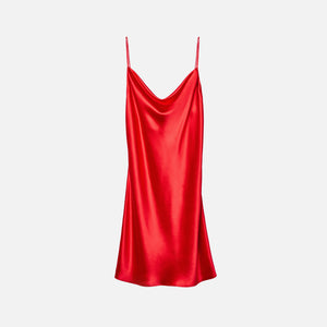 Fleur du Mal Cowl Neck Mini Slip - Red Poppy