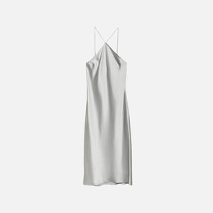 Fleur du Mal Halter Neck Slip Dress - Platinum